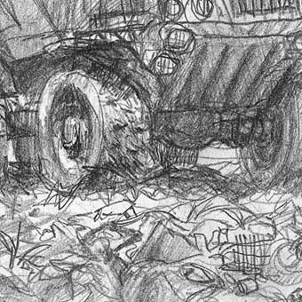 Dumptruck in a Landfill-Mine by Darren Kearney