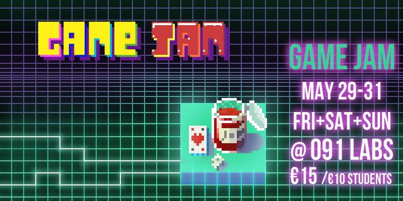 Game Jam Promo Banner 2 - Retro-esq 29-31 May 2015