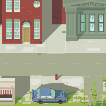 Street environment pixel art, conspiracy game jam may 2015
