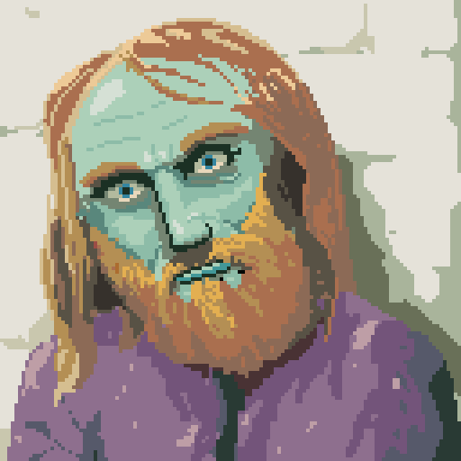 Bob's portrait,  pixel art, conspiracy game jam may 2015 by Darren Kearney