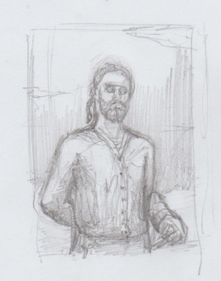 Captain Cyrus Vance Portrait Sketch
