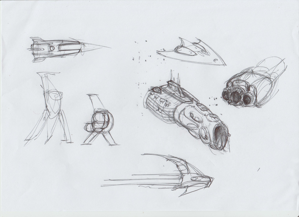 space ship sketches