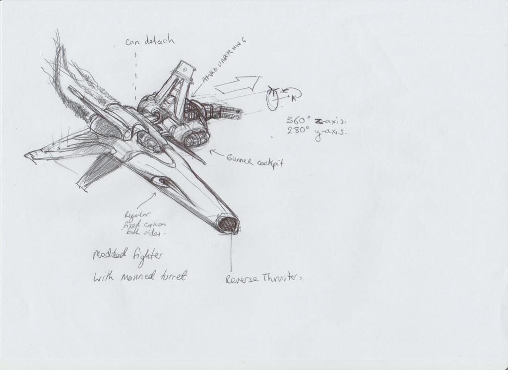 space ship sketches