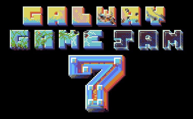 Galway Game Jam 7 pixel art banner