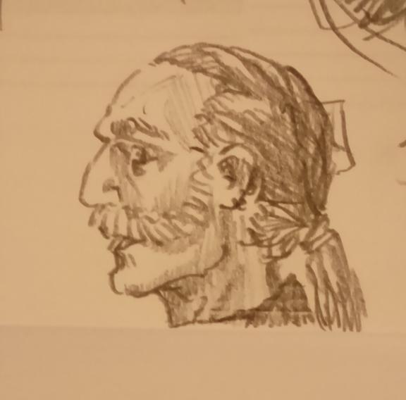 Stanvolm the Arabellian Wizard, sketch by Darren Kearney