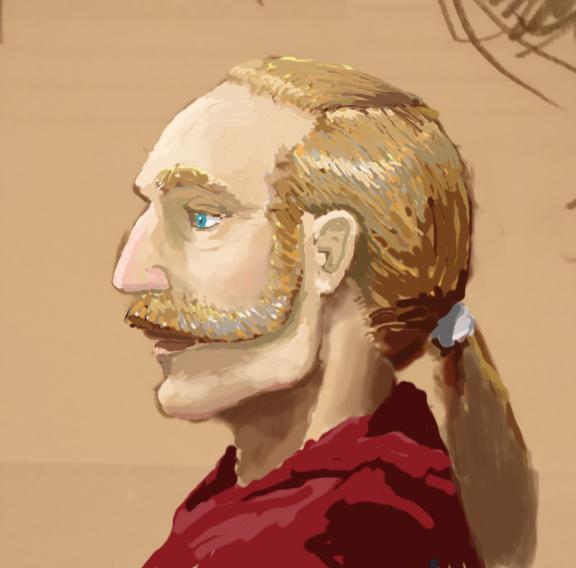 Stanvolm the Arabellian Wizard, Digital Painting by Darren Kearney