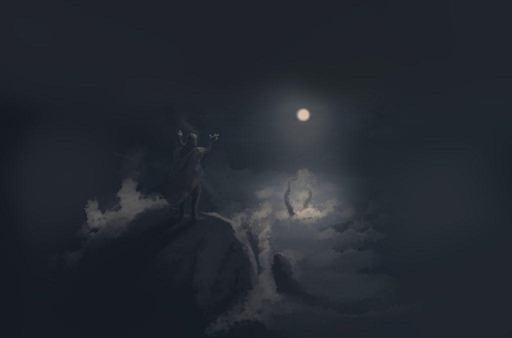 Moonlight Seacreature Summoning by Darren Kearney